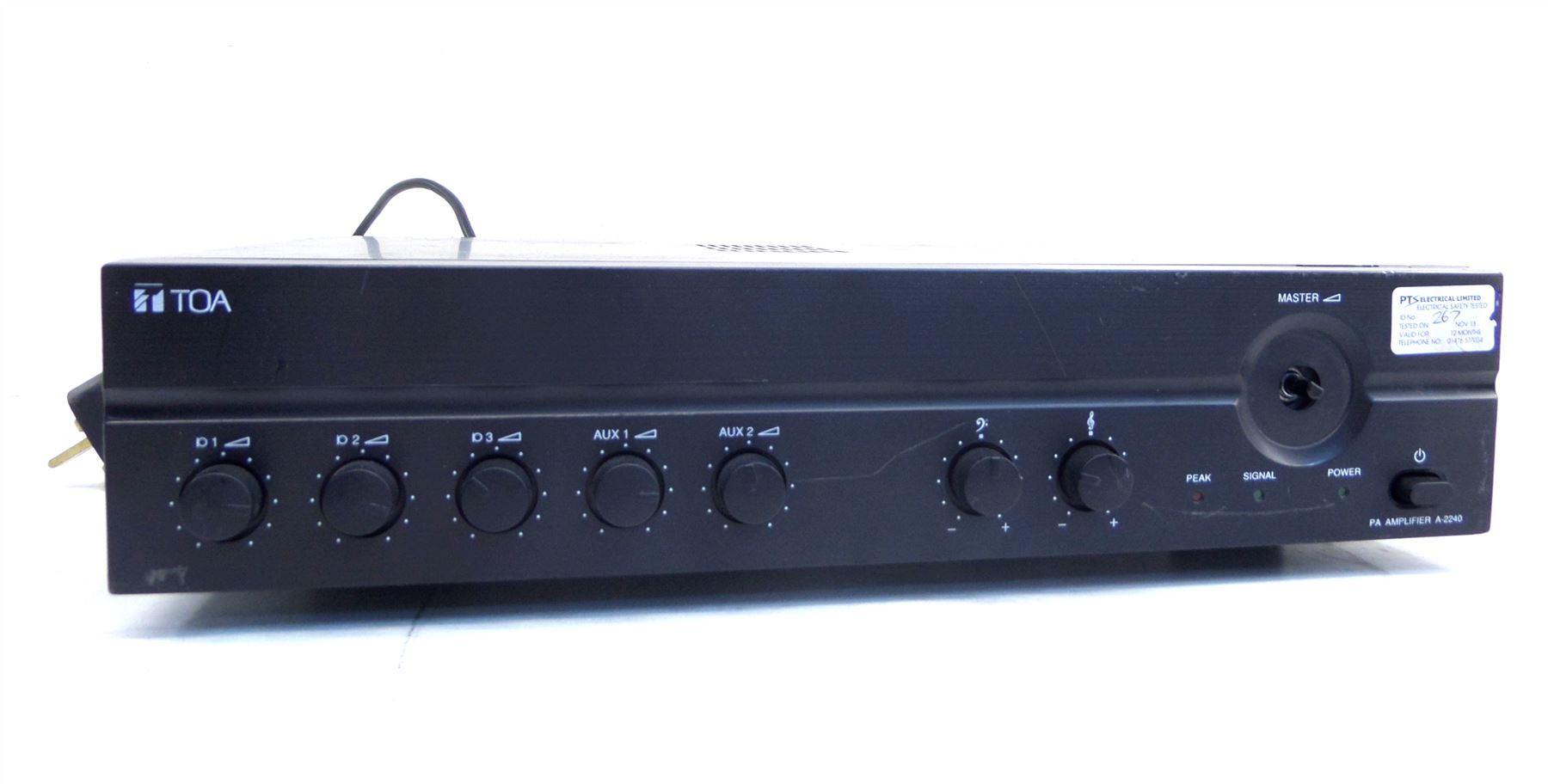 toa a 2240 240w electronics mixer amplifier 100v balanced mic inputs ebay. Black Bedroom Furniture Sets. Home Design Ideas