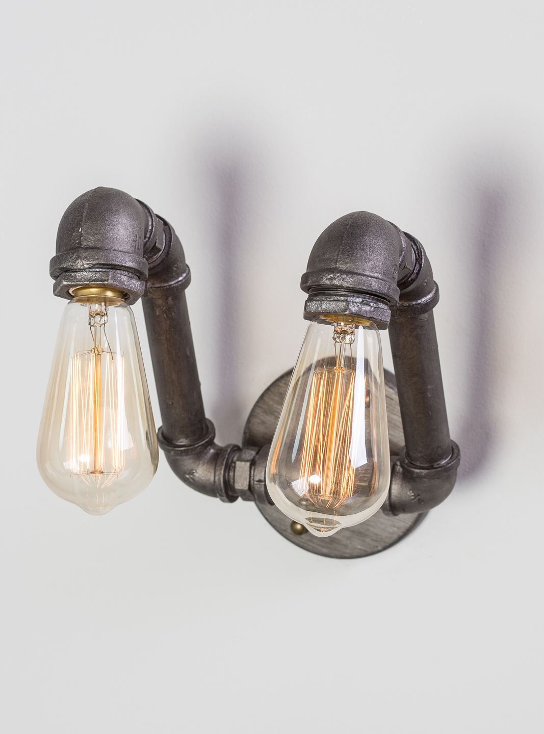 Solid Aluminum Pipe : Steampunk design metal pipe wall light from solid in