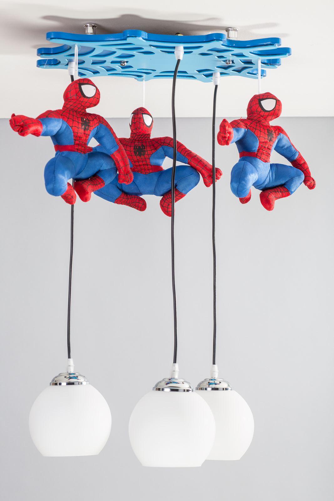 spiderman modern lights bedroom boys and girls ceiling