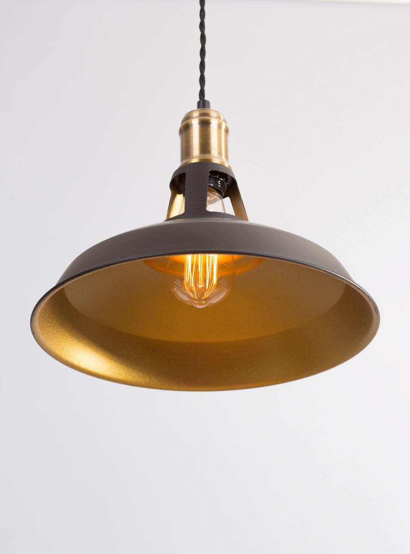 Vintage Retro Industrial Black Gold Kitchen Lights Ceiling