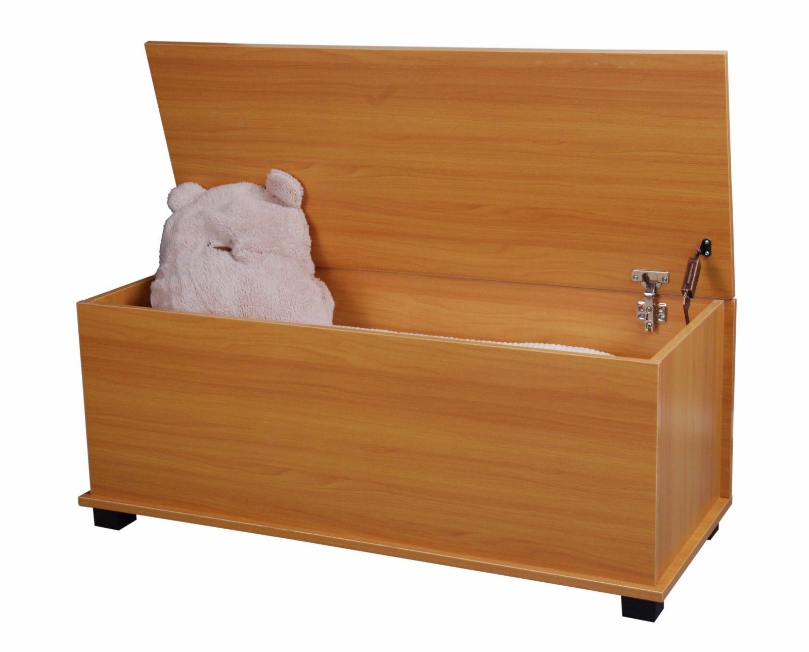 Large ottoman wooden storage toy box chest trunk footstool