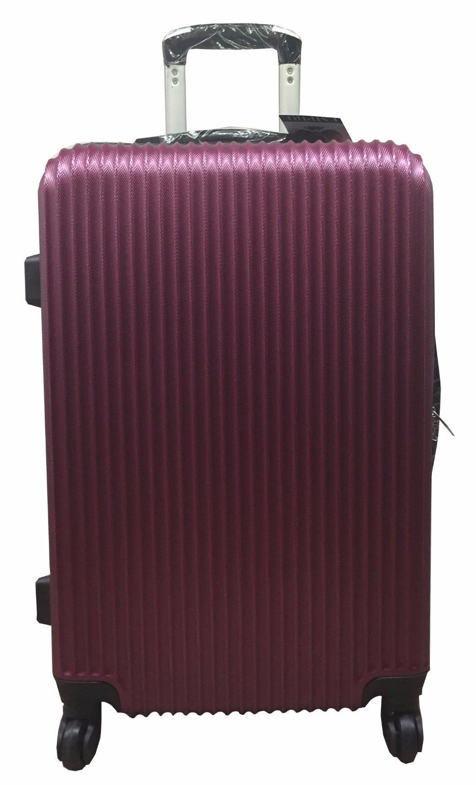 hard shell spinner suitcase abs light luggage trolley. Black Bedroom Furniture Sets. Home Design Ideas