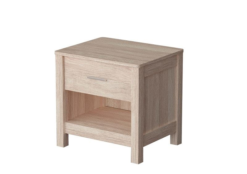 SONOMA WHITE WOODEN OAK BEDISDE CHEST OF DRAWERS SIDEBOARD BEDROOM FURNITURE
