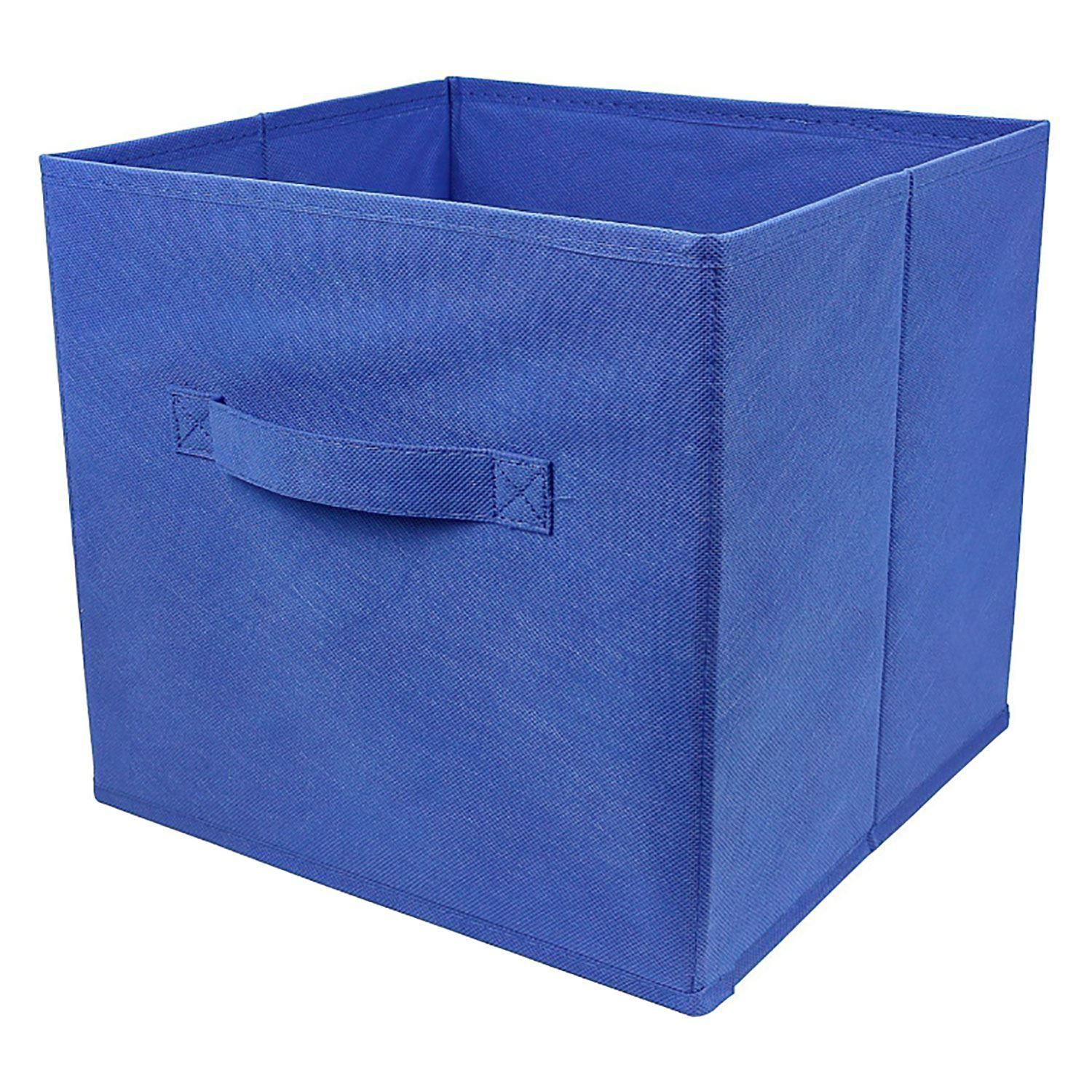 5 x foldable collapsible canvas fabric storage cube bin for Fabric storage