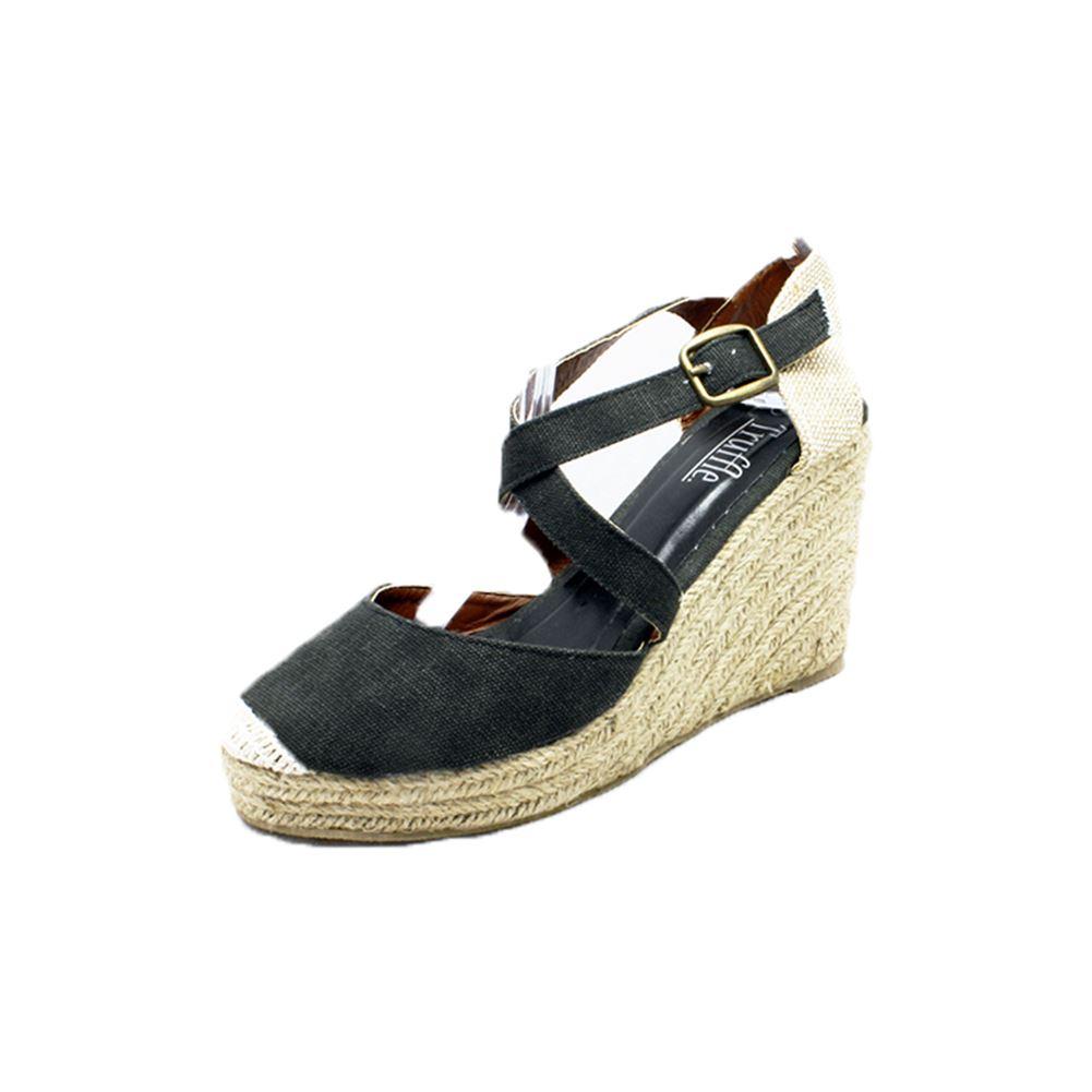 canvas cross wedge heel sandals shoes ebay