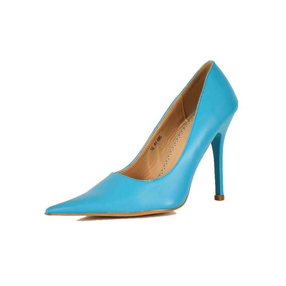 White Pointed Toe Court Shoes