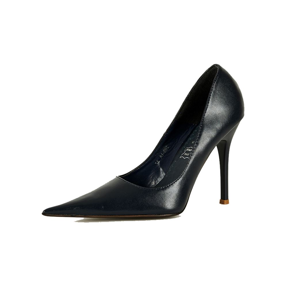 Ladies Court shoes with very pointed toe and high heel ...
