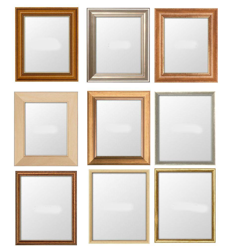 bild rahmen schmal foto poster rahmen helles holz kiefer mahagoni silber gold ebay. Black Bedroom Furniture Sets. Home Design Ideas