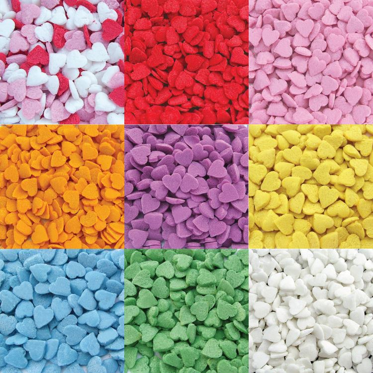 Cake Decorating Sprinkles Uk : Edible Cupcake Cake Sprinkles Decorations Confetti Hearts - Various Colours eBay