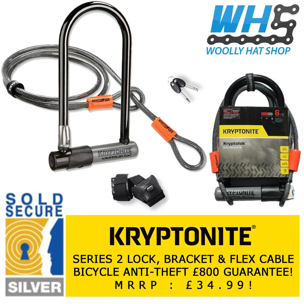 kryptonite series 2 kryptolok sold secure bike d u lock 4ft flex cable ebay. Black Bedroom Furniture Sets. Home Design Ideas