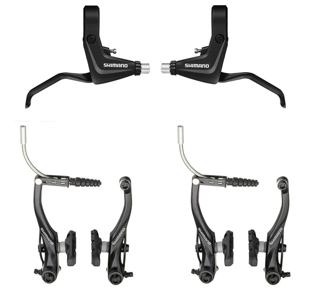 Shimano Alivio T4000 Front Rear Mtb Bike V Brake Levers Cable