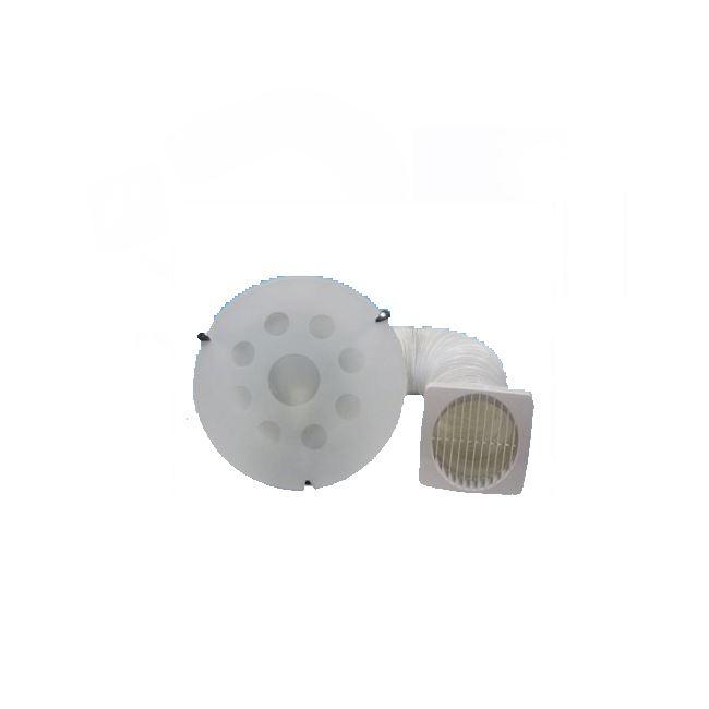 Bathroom shower extractor fan light greenwood d125ltg - Bathroom light with extractor fan ...