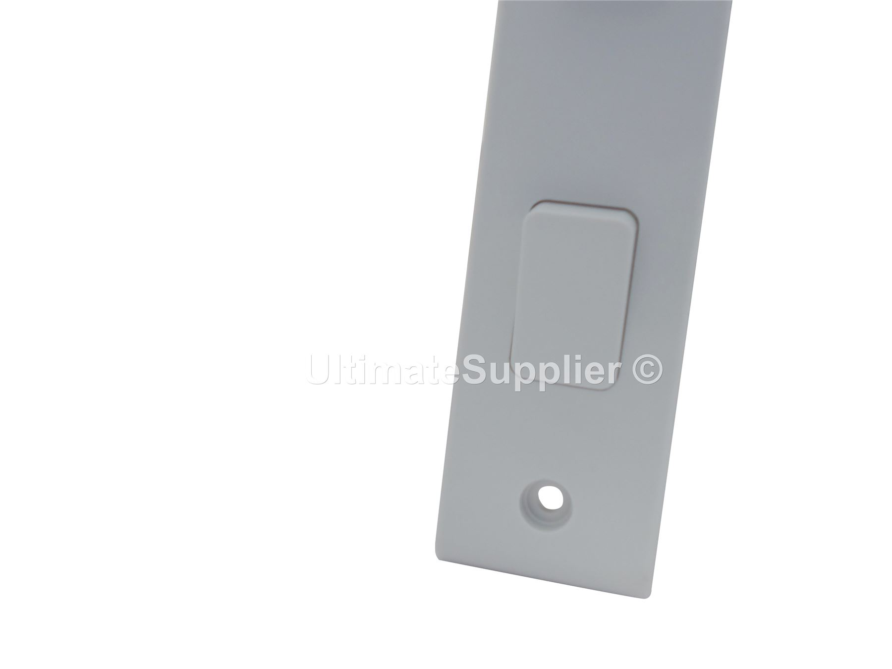 2 gang architrave switch 2 way double light 10a white slim
