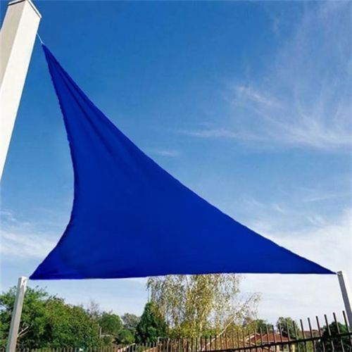 triangle sun shade sail garden patio party sunscreen awning canopy cords ebay. Black Bedroom Furniture Sets. Home Design Ideas