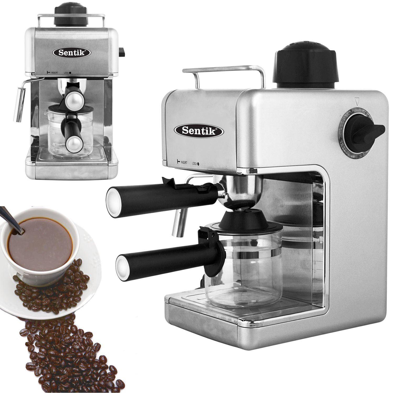 sentik professionnel espresso cappuccino cafeti re argent. Black Bedroom Furniture Sets. Home Design Ideas