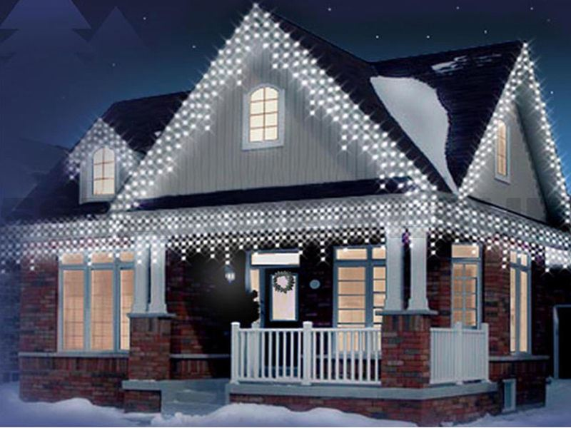 Christmas icicle 240360480720960 led snowing xmas lights party christmas icicle 240 360 480 720 960 led aloadofball