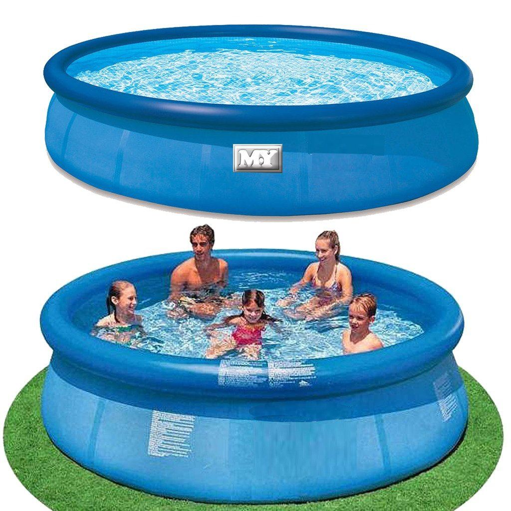 M y inflatable garden quick set ring pool paddling for Garden swimming pool ebay