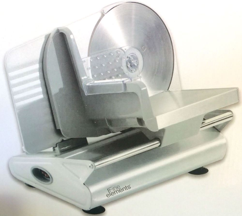 Silver Electric Food Meat Slicer 190mm Blade 100w Motor