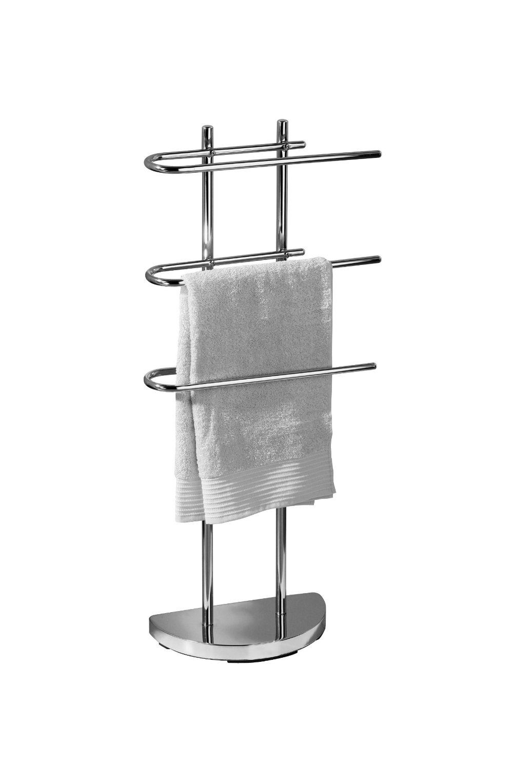 Floor Standing Towel Stand Rack With 3 U Shaped Arms Bathroom  D