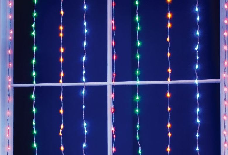 multi colour 240 led christmas xmas cascading waterfall garden curtain lights ebay. Black Bedroom Furniture Sets. Home Design Ideas