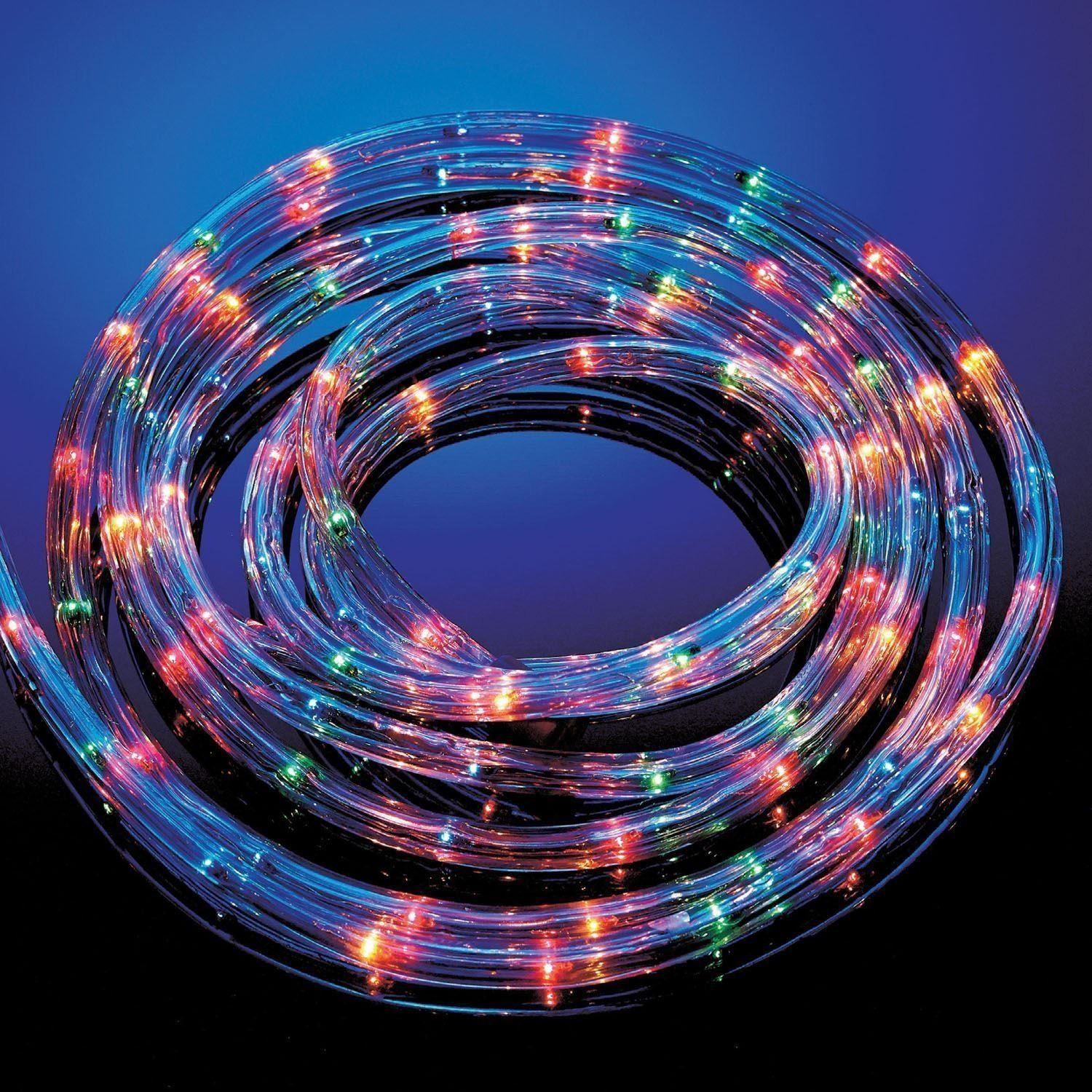 20m Multi Coloured Rope Light Outdoor Indoor Party Lights