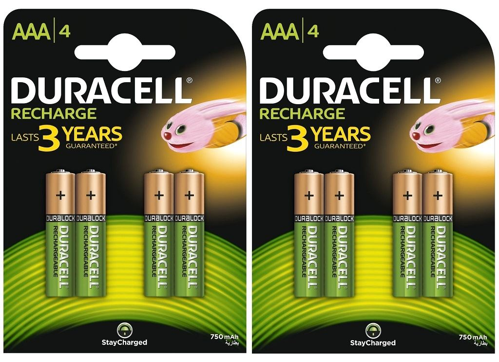8 x Duracell AAA 750 mAh Rechargeable Batteries NiMH ACCU LR03 HR03 DC2400 Phone  eBay