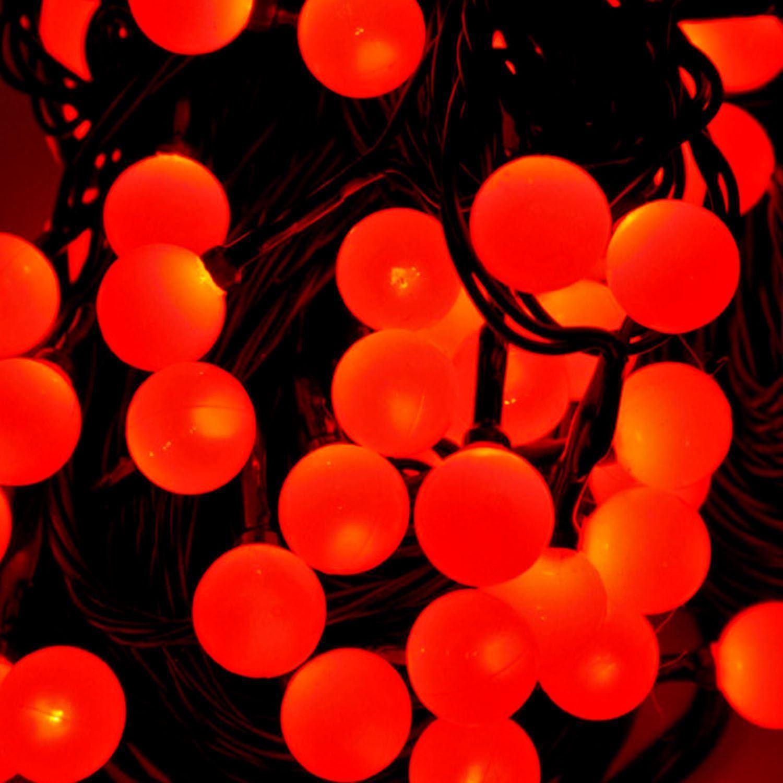 CHERRY BERRY RED/WHITE LED BALL SHAPE FAIRY STRING LIGHTS MAINS POWER CHRISTMAS eBay