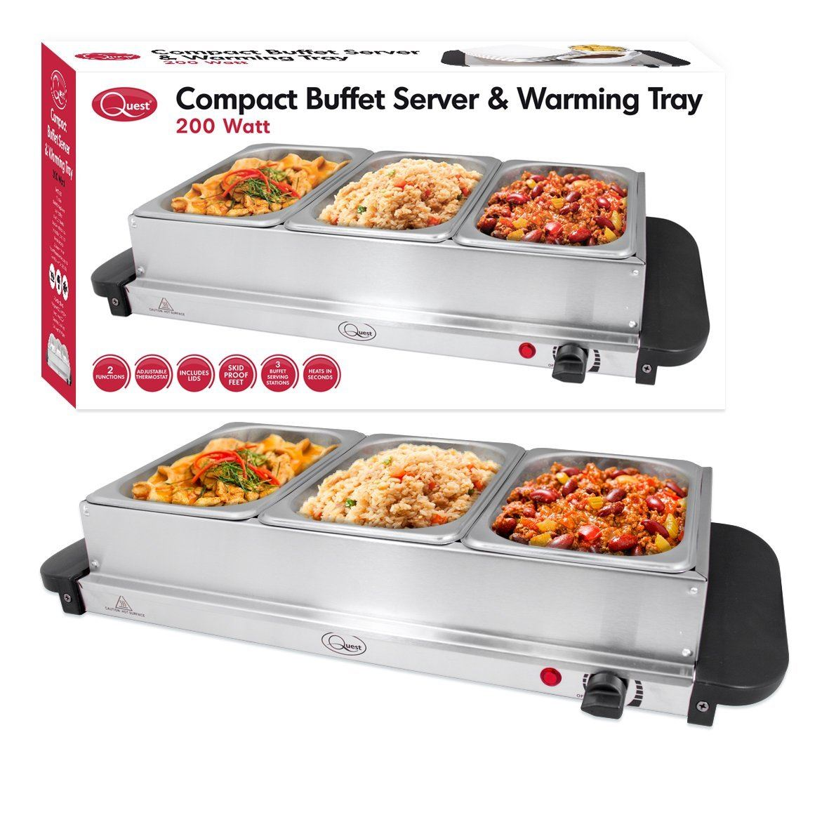 Quest Benross Quest Compact Buffet Server and Warming Tray ...