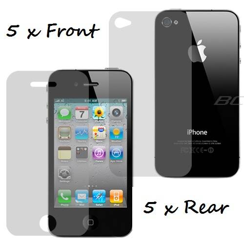 PACK-NEW-iPHONE-4-4S-4G-CLEAR-SCREEN-LCD-PROTECTOR-FILM-GUARD-FRONT-REAR-APPLE