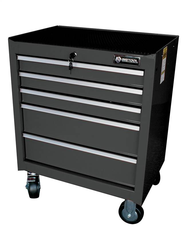 britool expert 5 drawer roller metal trolley tool box unit. Black Bedroom Furniture Sets. Home Design Ideas
