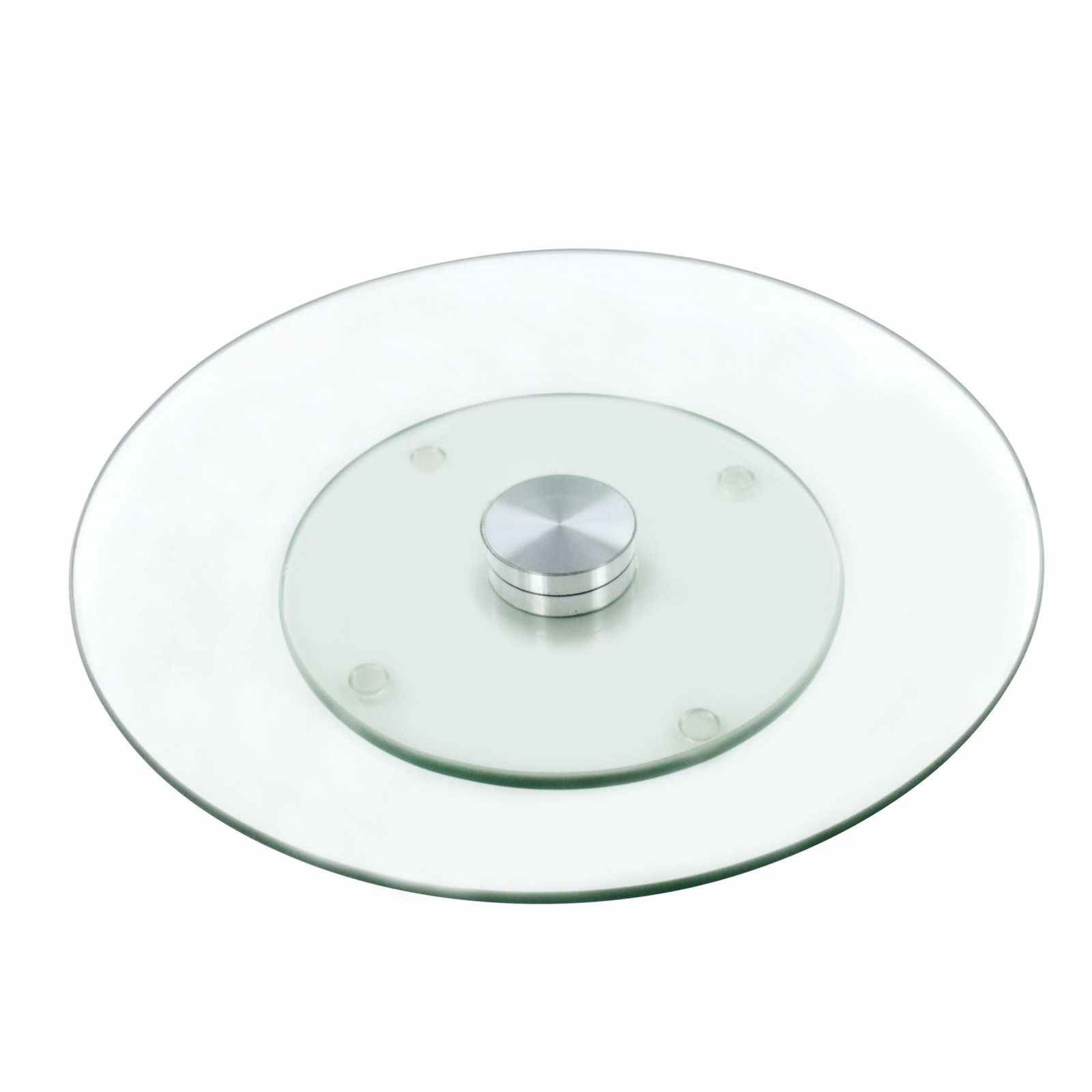 Lazy Susan Turntable For Cake Decorating : Tempered Glass Lazy Susan Rotating Turntable Serving Tray Cake Decorating Plate