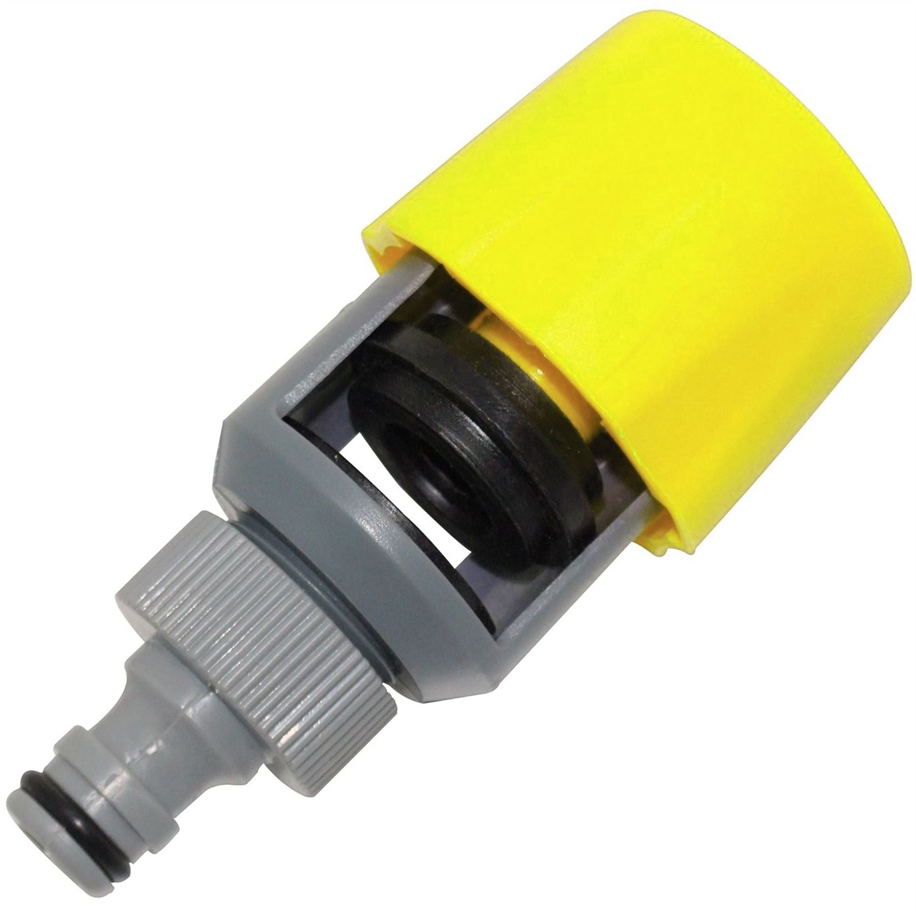 Universal kitchen tap hose pipe adaptor connector rubber mixer round square ebay - Connect hose to kitchen tap ...