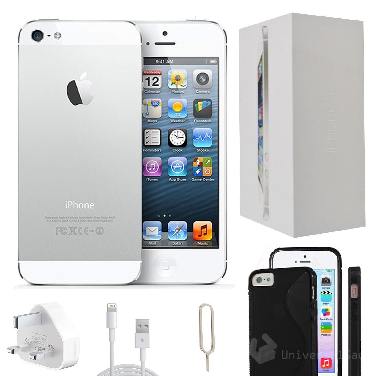 apple iphone 5 32gb white unlocked refurbished grade a accessories ebay. Black Bedroom Furniture Sets. Home Design Ideas