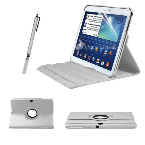 360 DEGREE ROTATING LEATHER CASE STAND FOR IPAD MINI +SCREEN PROTECTOR / STYLUS