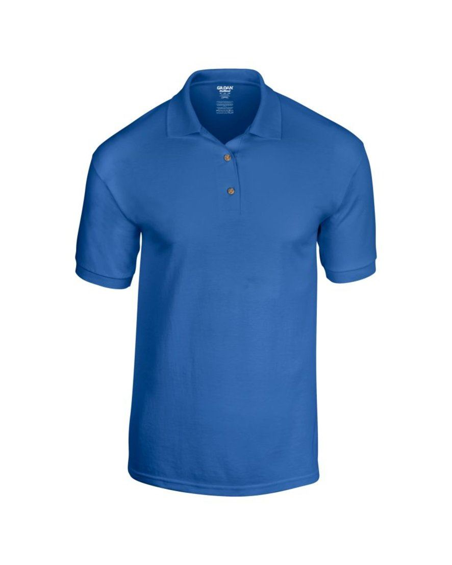 Mens polo shirt polyester cotton work office wear for Work polo shirts embroidered