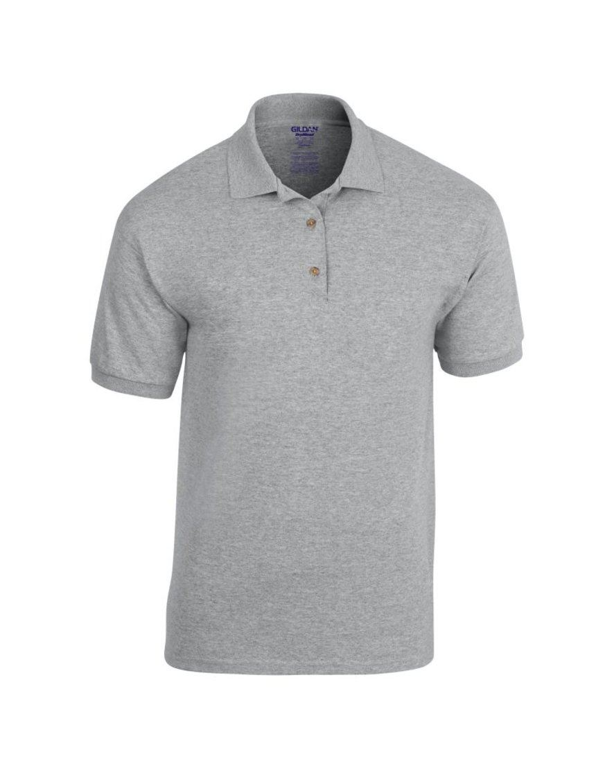 Mens polo shirt polyester cotton work office wear for Moisture wicking golf shirts