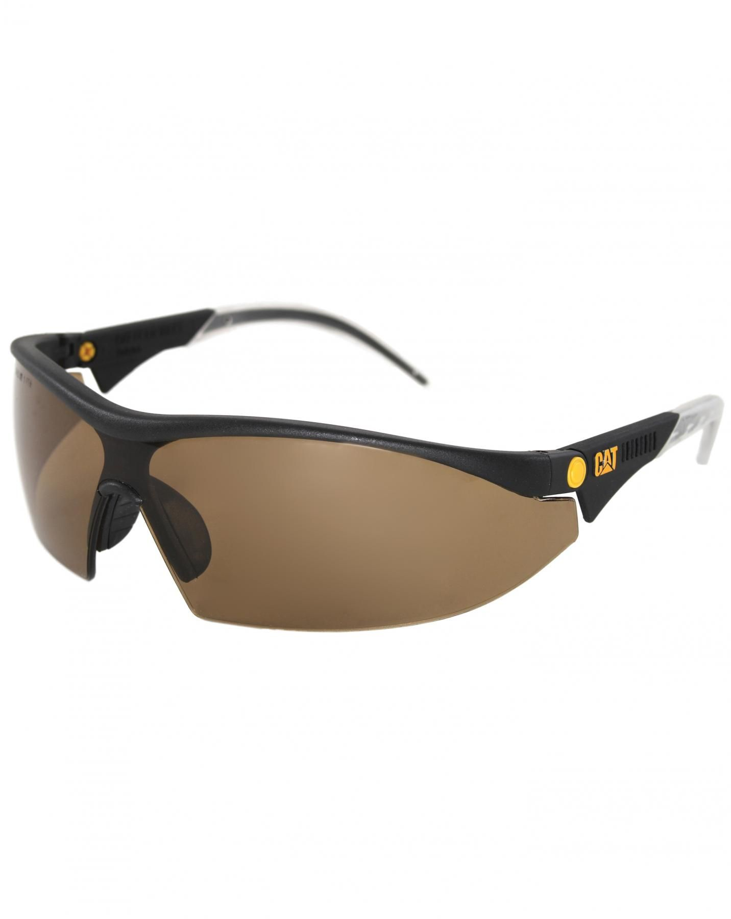 Caterpillar Semi-Rimless Glasses, Eyewear, Brown, Unisex ...