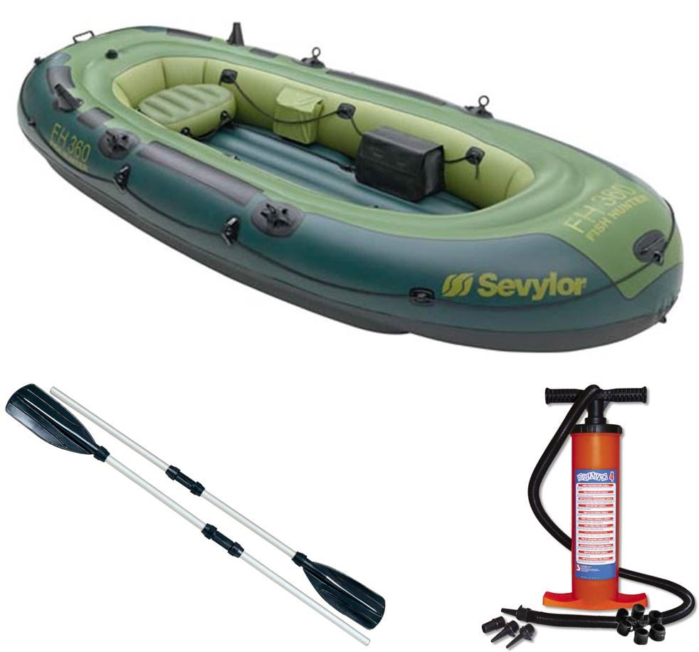 Sevylor fish hunter 360 4 persons inflatable fishing for Ebay fishing boats