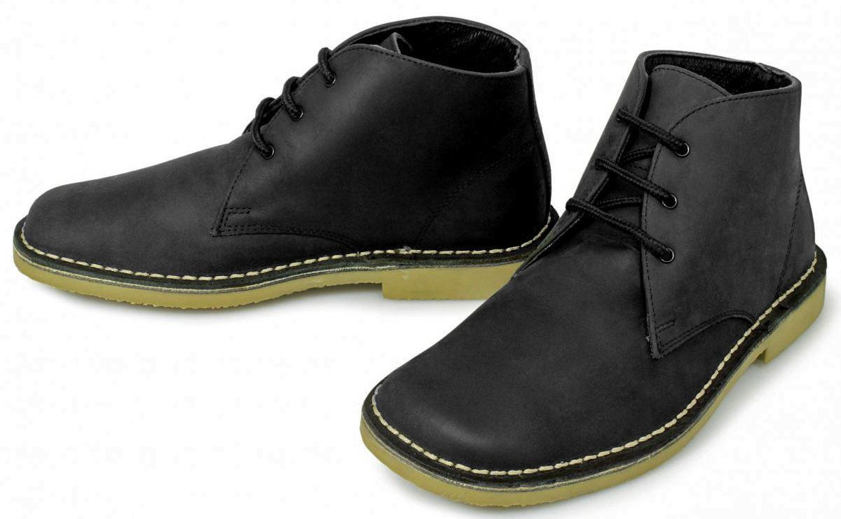 mens retro dessert desert boots soft waxy leather non slip