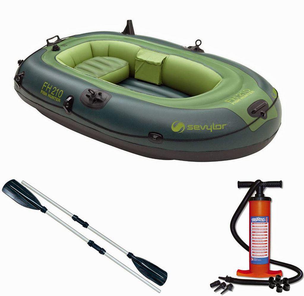 Sevylor fish hunter 210 inflatable fishing boat dingy for Inflatable boats for fishing