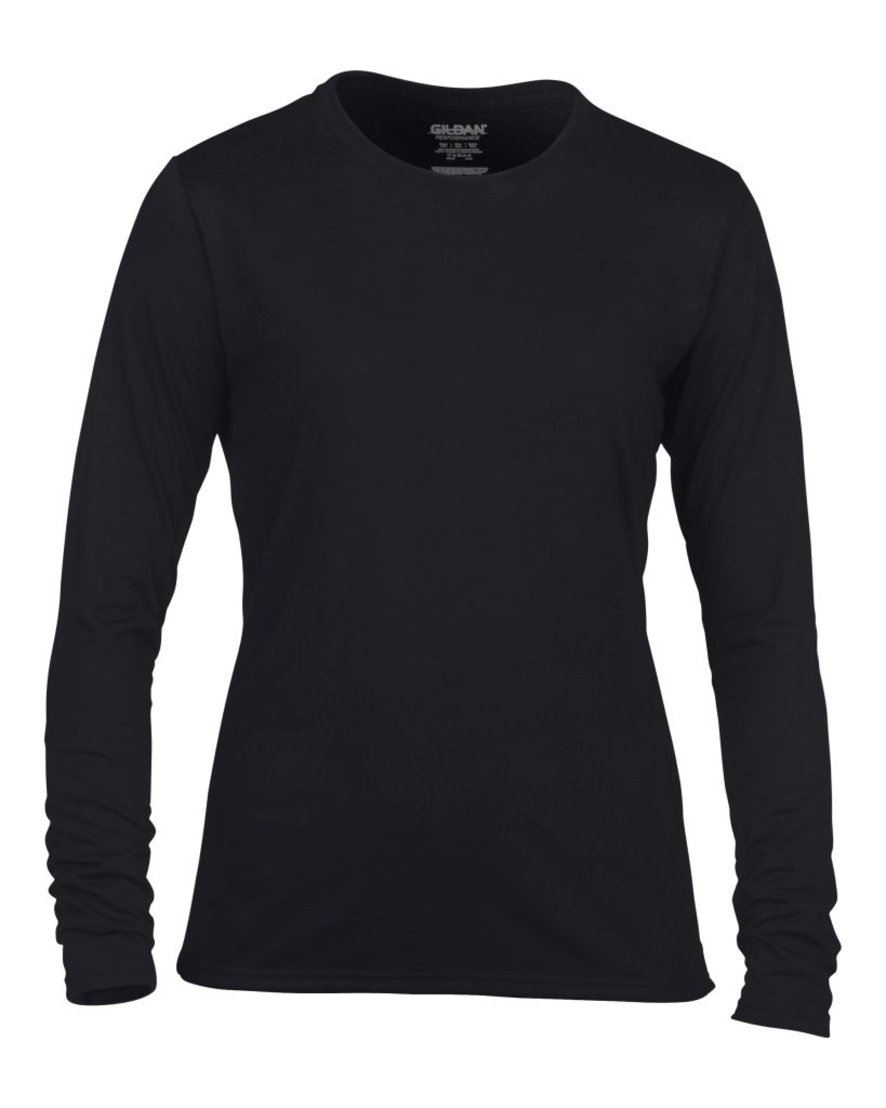 Gildan ladies performance long sleeve t shirt sleeves top for Long t shirts for ladies online