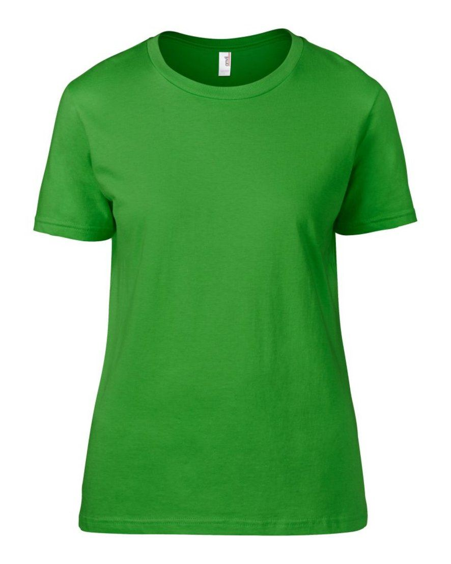 Anvil ladies basic t shirt fitted colours top cotton soft for Basic shirts for women