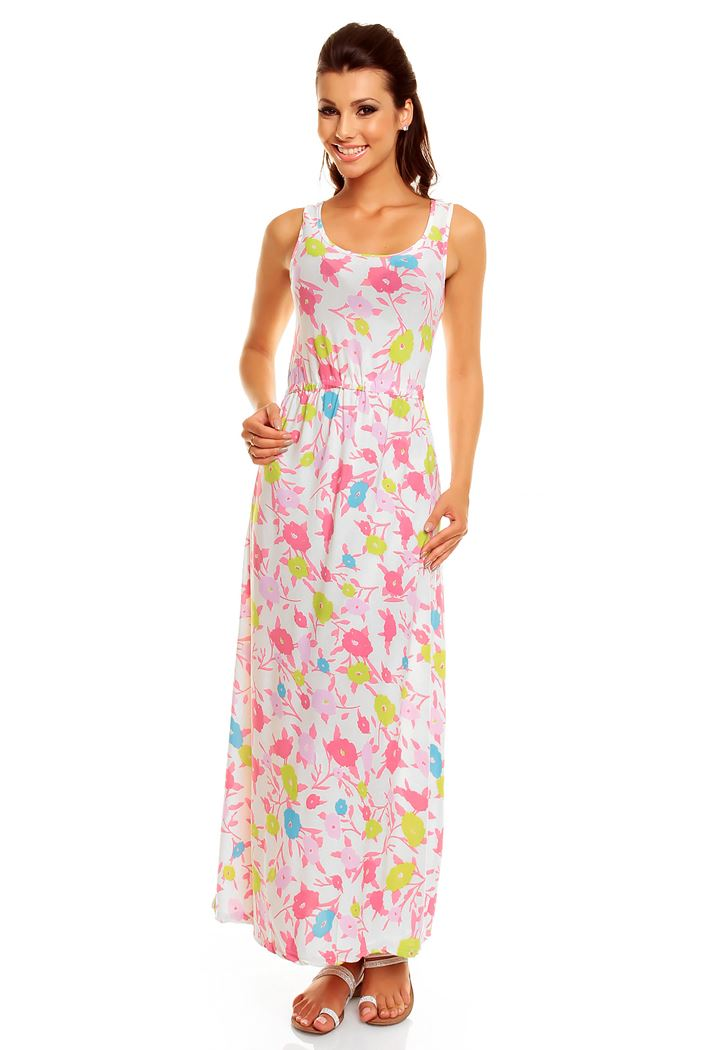 New Ladies Boho Daisy Jersey Maxi Summer Holiday Evening ...