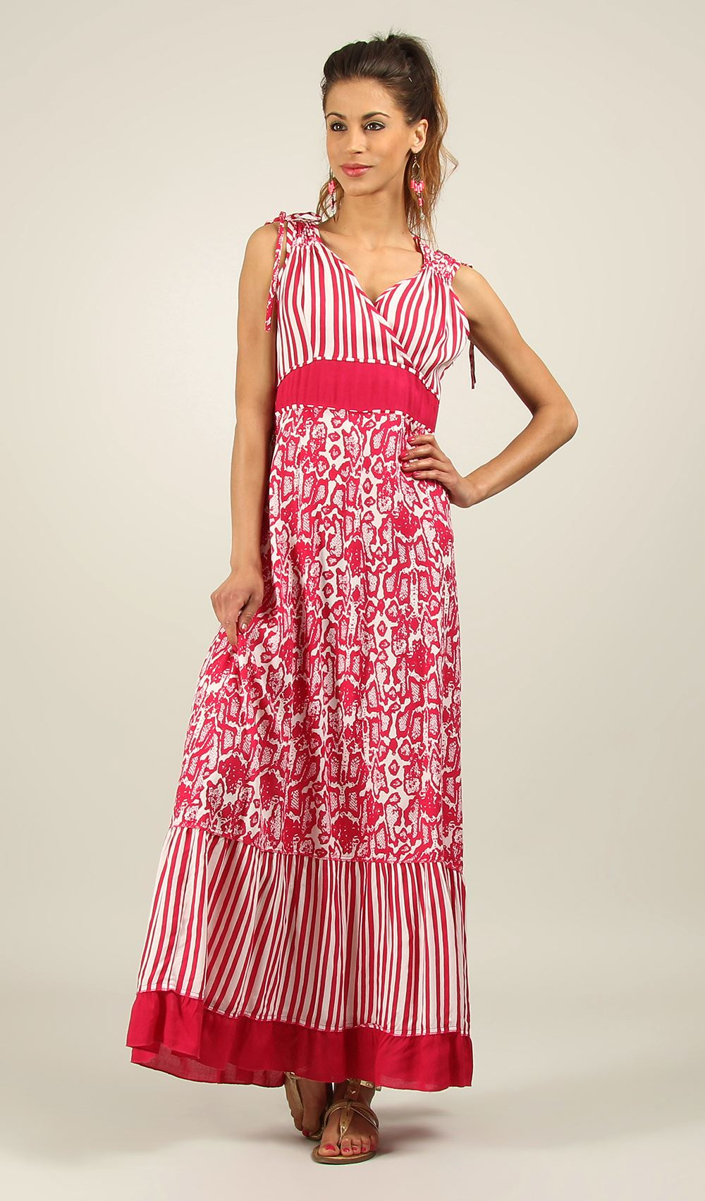 New-Ladies-Kushi-Boho-Gypsy-Summer-Maxi-Beach-Dress-Size-10-22
