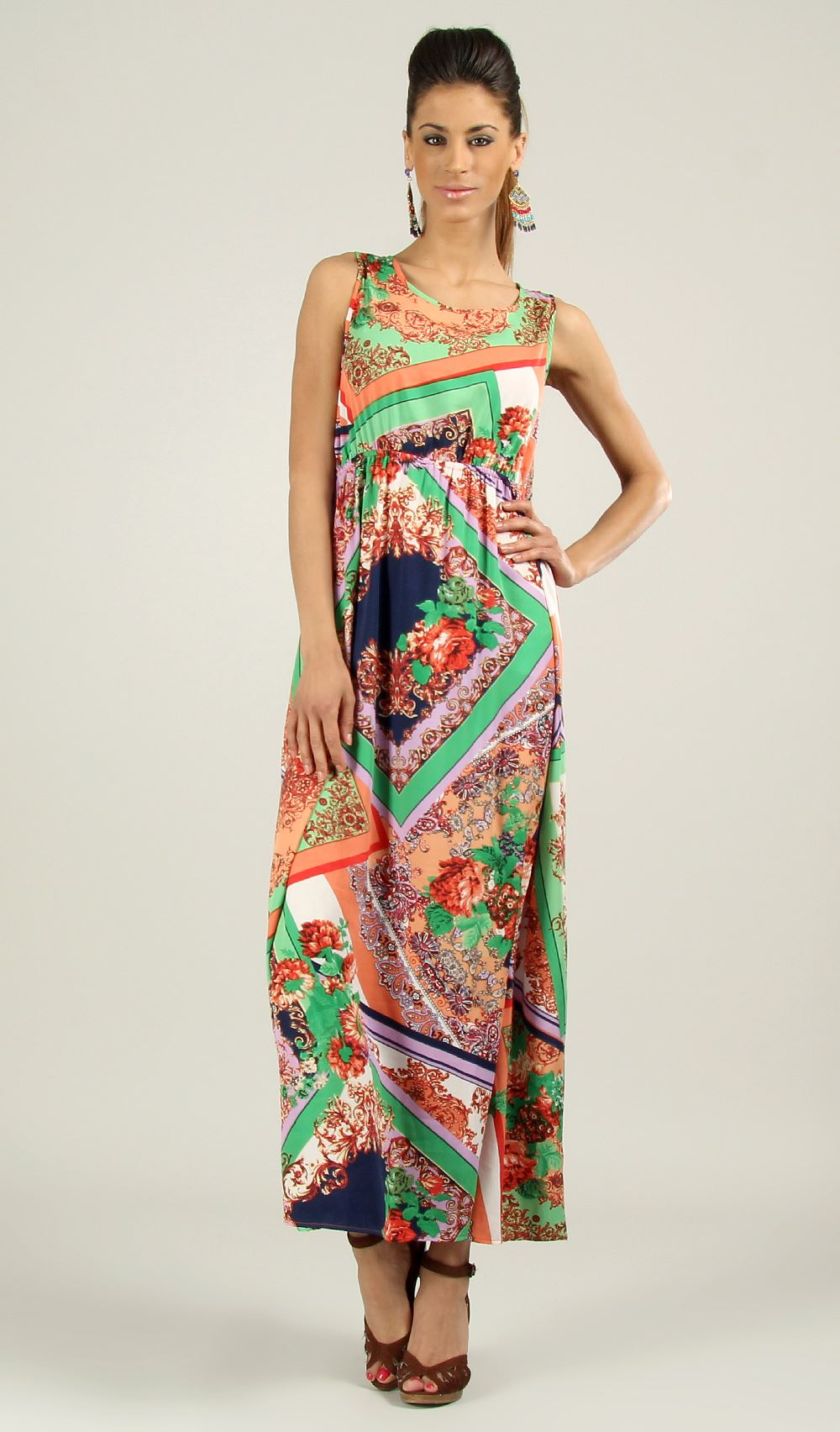 New-Ladies-Kushi-Summer-Sleeveless-Holiday-Long-Maxi-Dress-Size-10-22