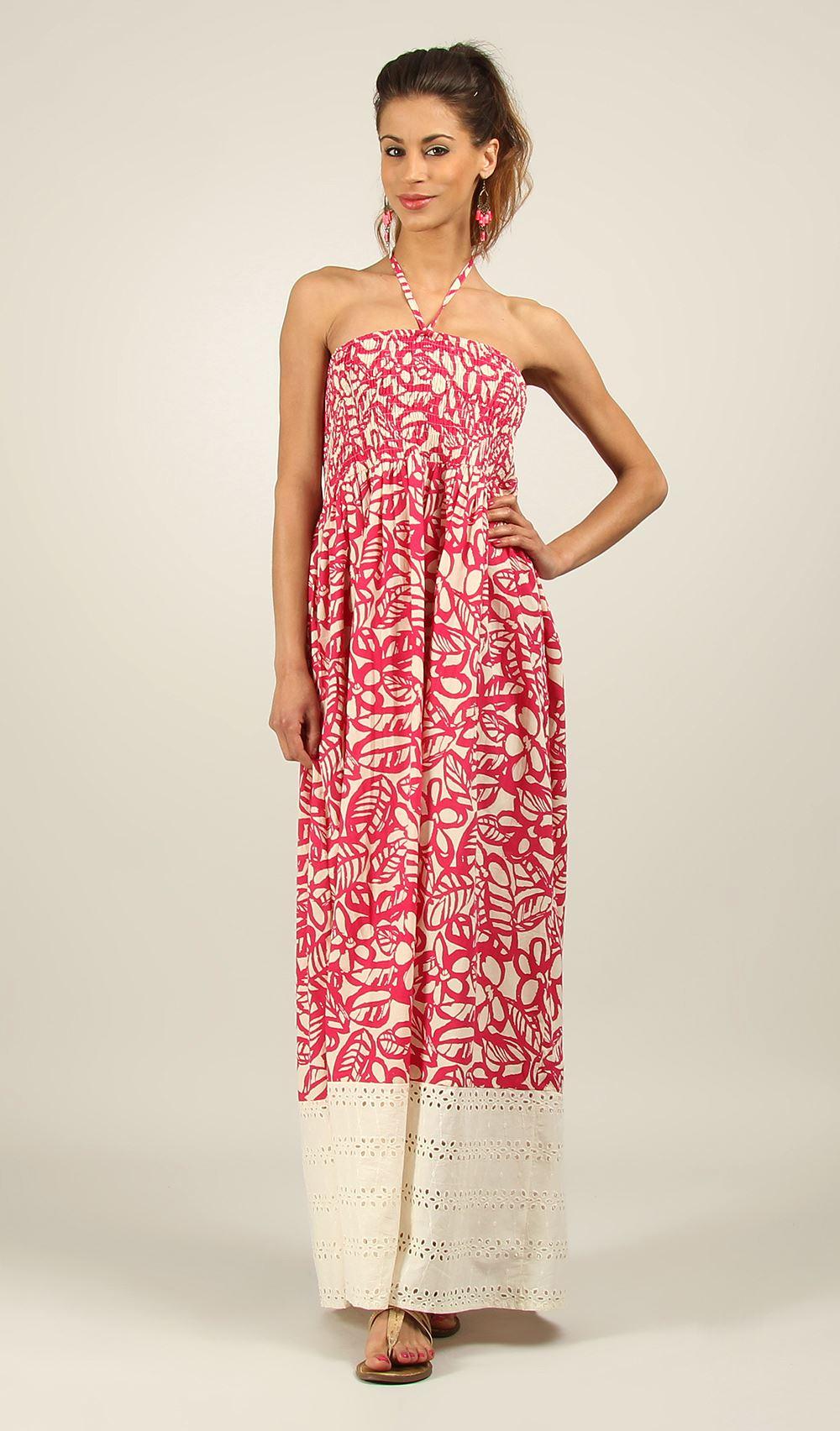 New-Ladies-Kushi-Summer-Sleeveless-Gypsy-Holiday-Maxi-Long-Dress-Size-10-22