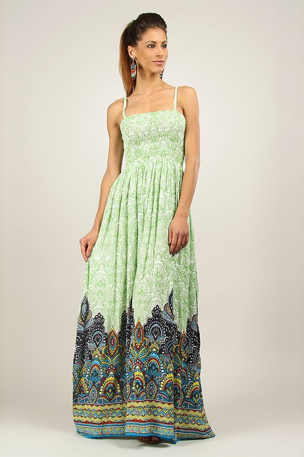New-Ladies-Kushi-Summer-Long-Boho-Gypsy-Holiday-Maxi-Dress-Size-10-22