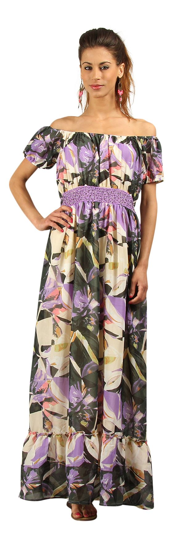 New-Kushi-Long-Boho-Festival-Gypsy-Summer-Chiffon-Maxi-Dress-Size-10-22