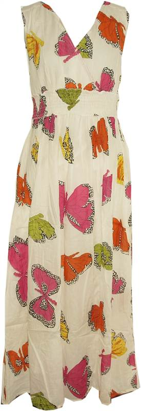 New-Ladies-Kushi-Summer-Butterfly-Boho-Holiday-Long-Maxi-Dress-Size-8-20