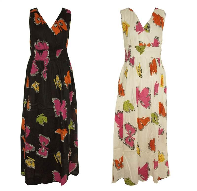 New-Ladies-Kushi-Summer-Butterfly-Boho-Holiday-Long-Maxi-Dress-Size-8-20
